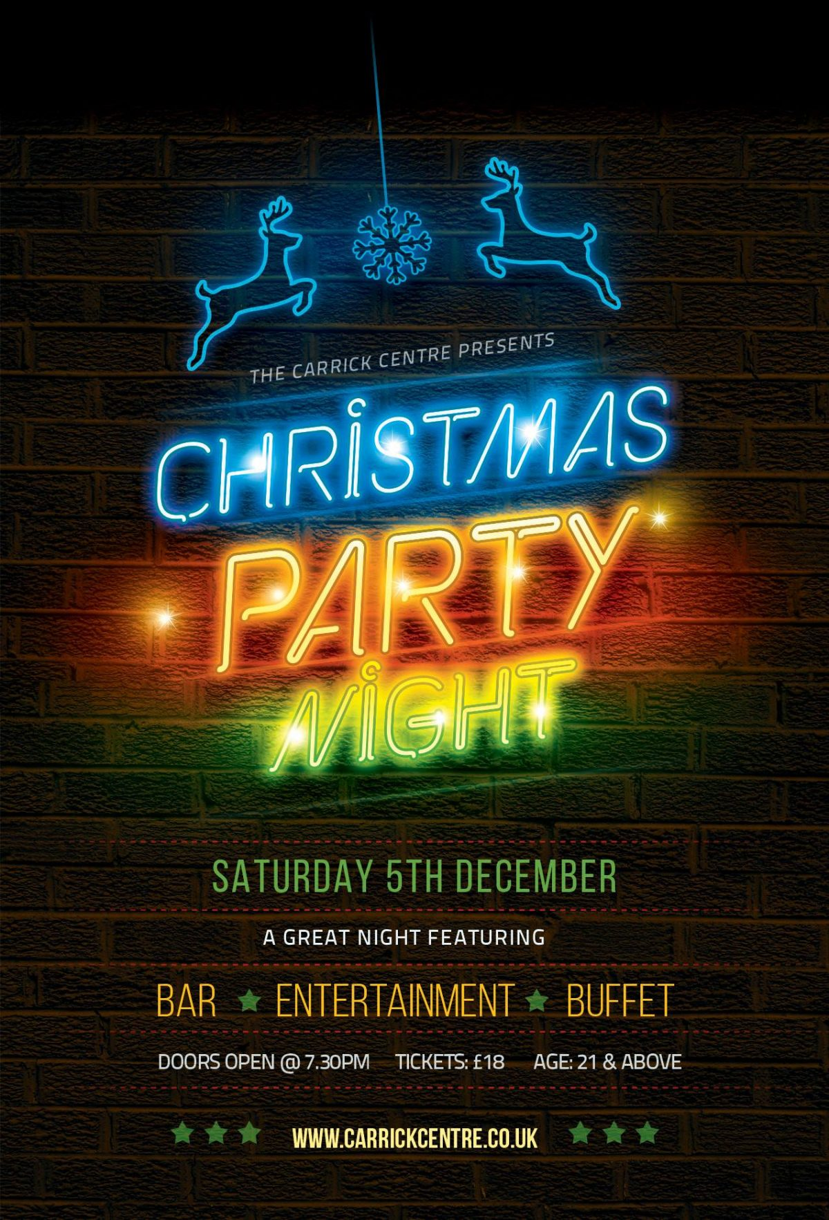 Christmas Party Night @ Carrick Centre - J&J Event Bars